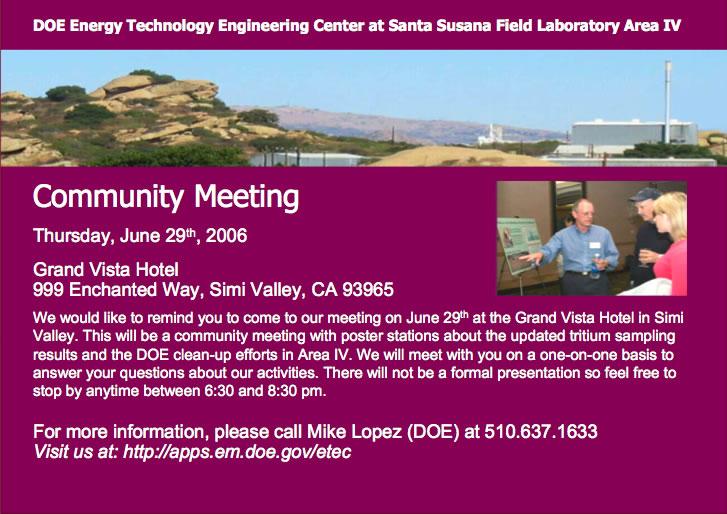 Etec june 2006 public meeting invitation card for june 2006public meeting stopboris Image collections